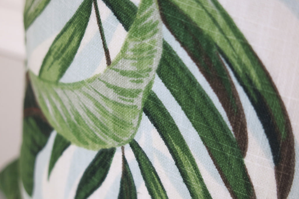 Tropical Palms Pillow Cover - Green