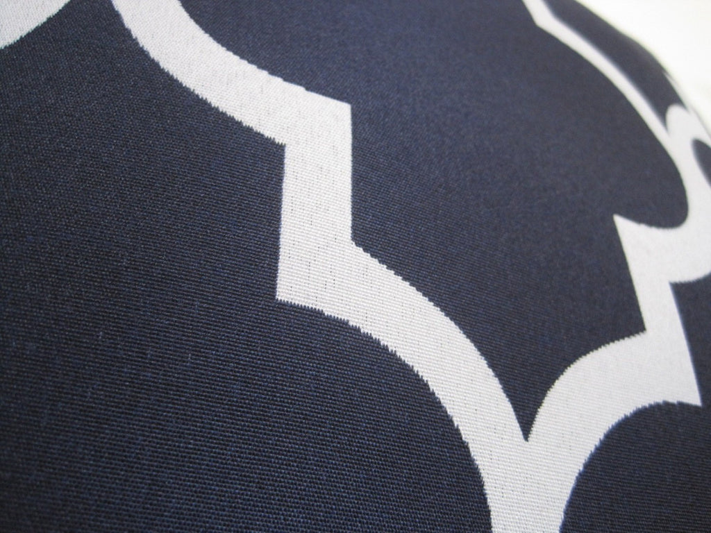Moroccan Pillow Cover - Navy Blue