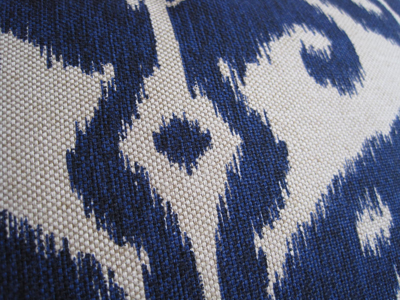 Tangier Ikat Pillow Cover - Navy Indigo