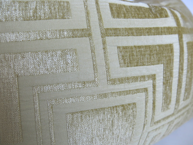 Velvet Greek Key Pillow Cover - Gold