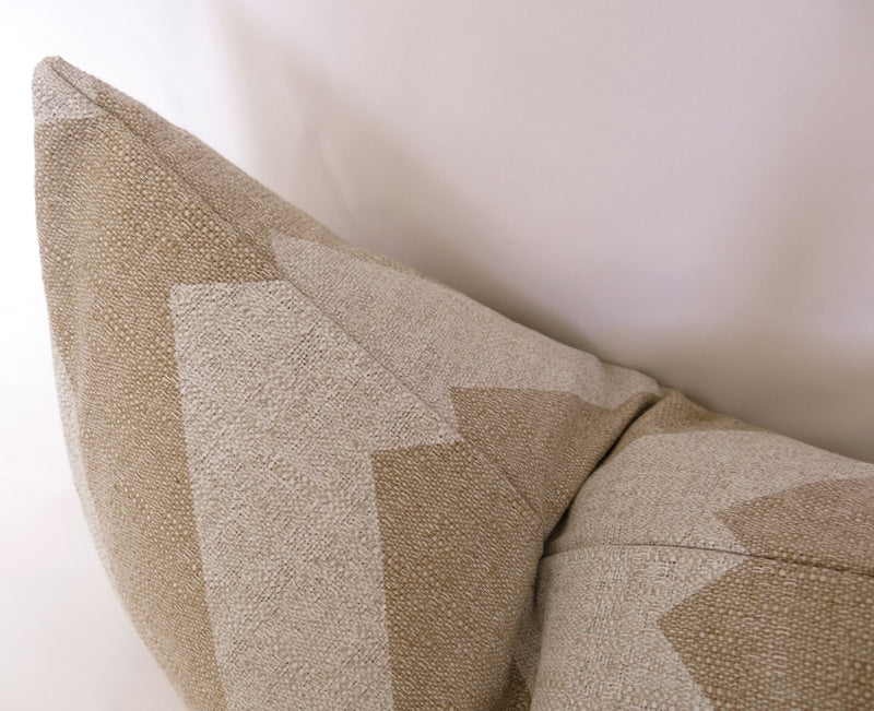 Grande Chevron Pillow Cover - Natural and White