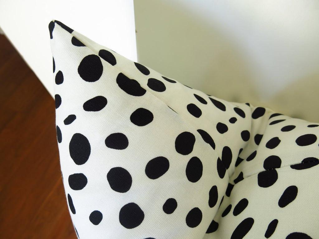Dalmatian Pillow Cover - Black and White