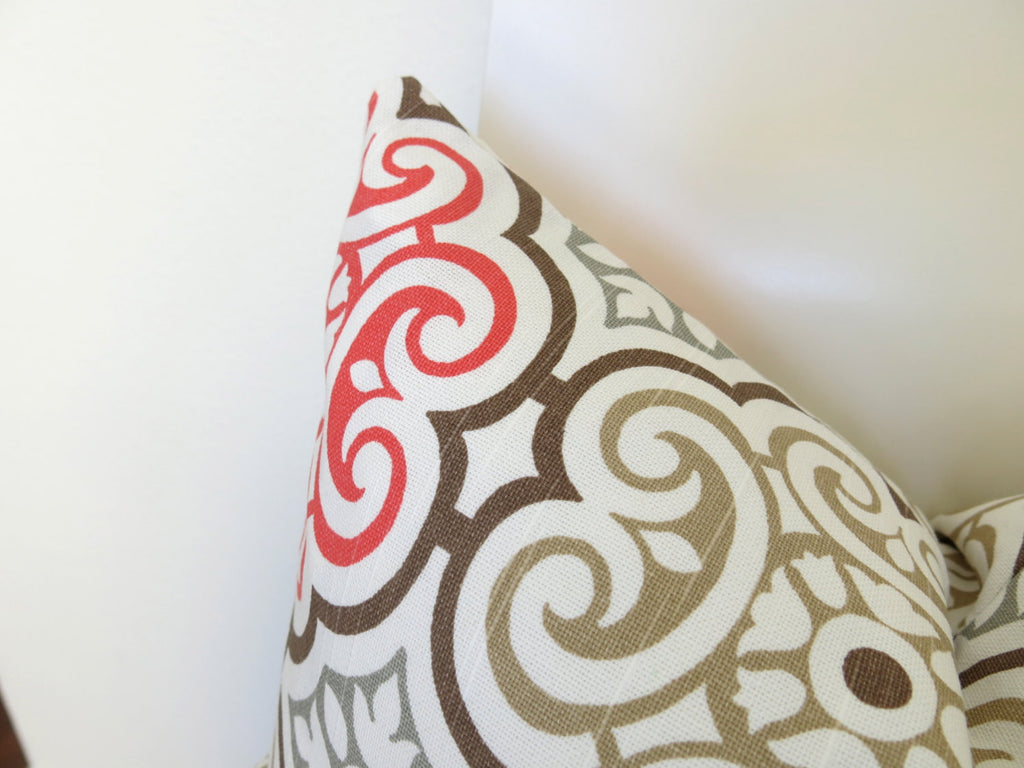 Medallion Pillow Cover - Pink Coral