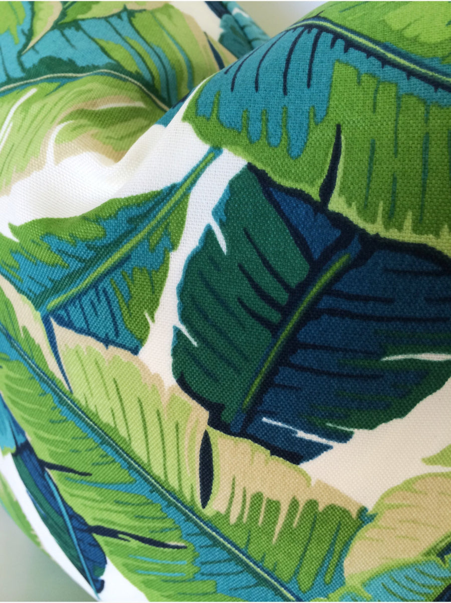 Tropical Leaf Pillow Cover Turquoise Willa Skye Home