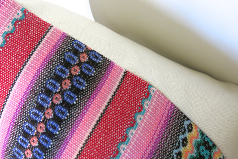 LIMITED 003 - Peruvian Stripe Pillow Cover - Pink and Green