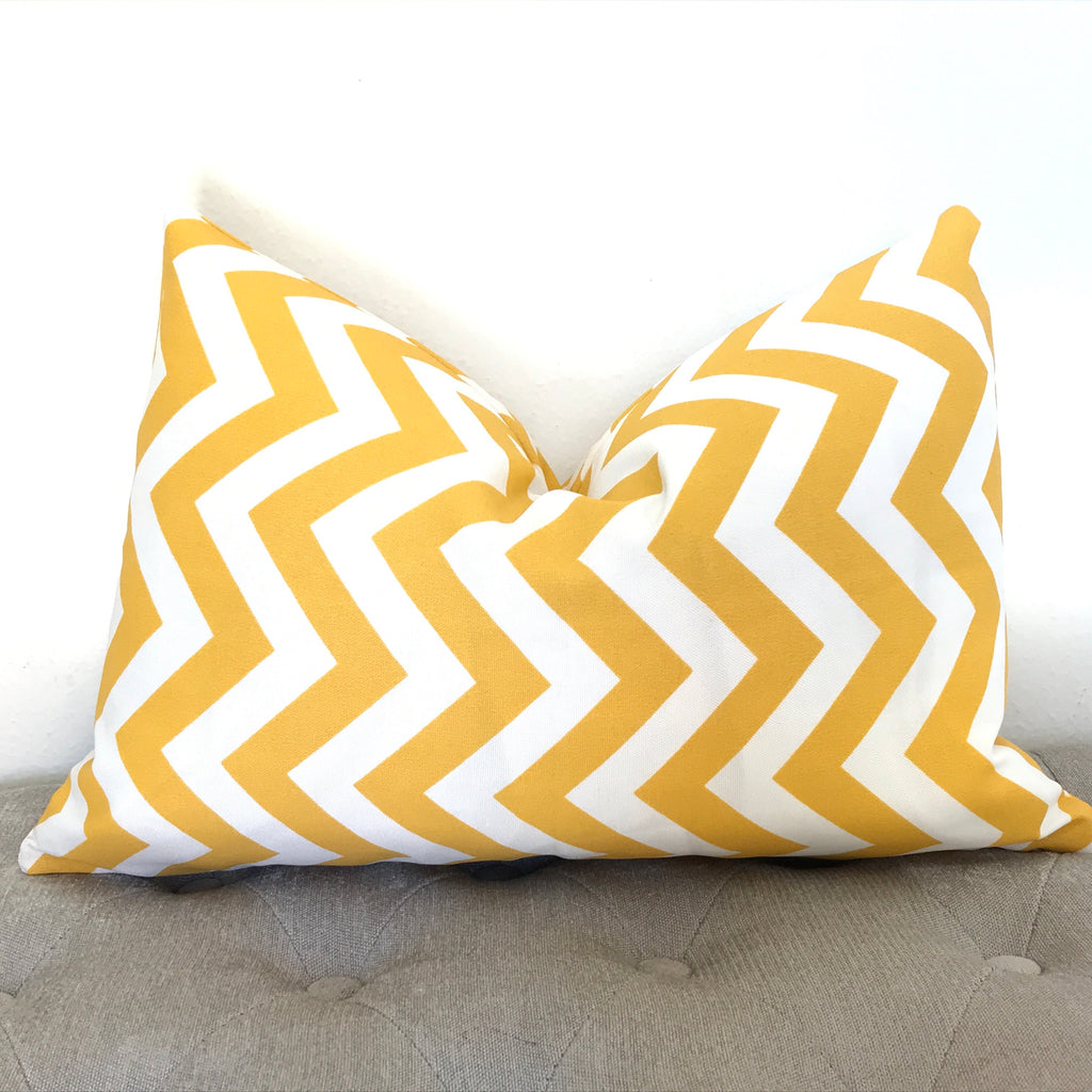 Yellow Chevron Pillow Cover - Yellow