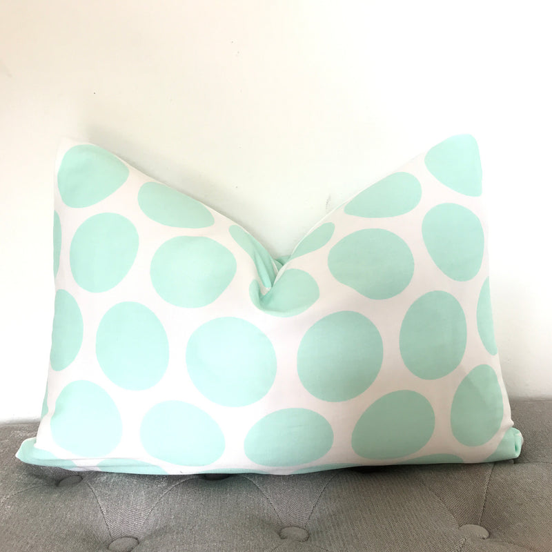 Dots Pillow Cover - Mint Green