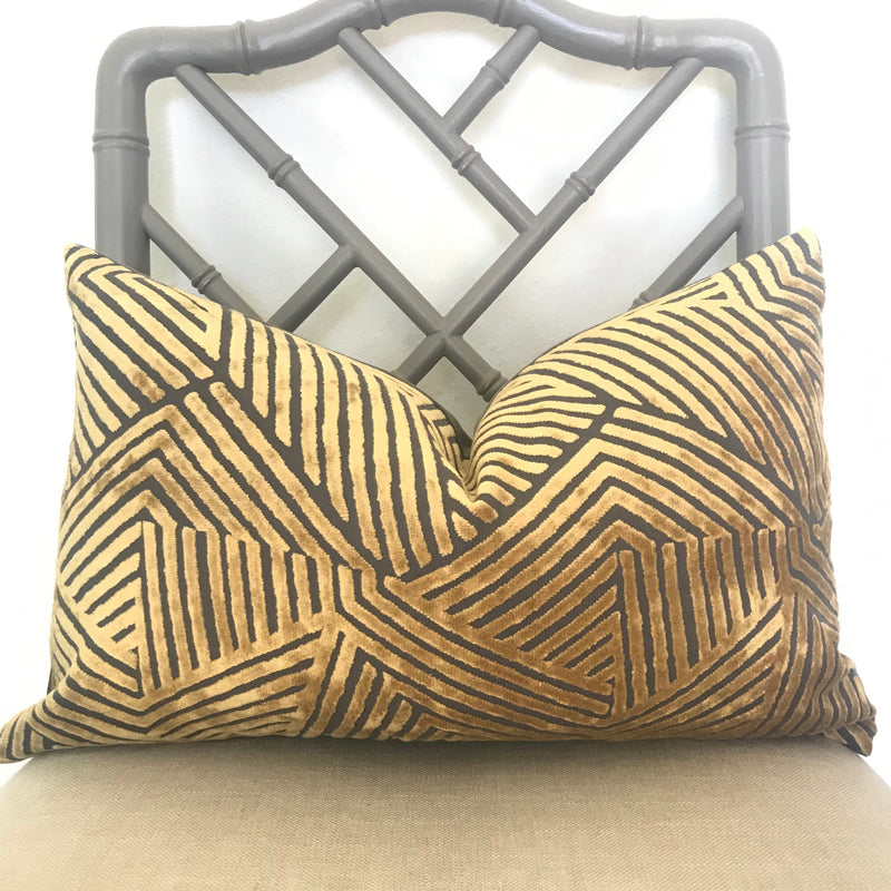 Sun Dial Pillow Cover - Gold