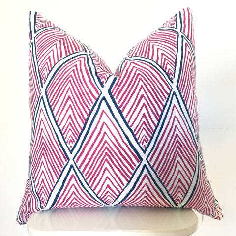 Floral Ikat Pillow Cover - Pink