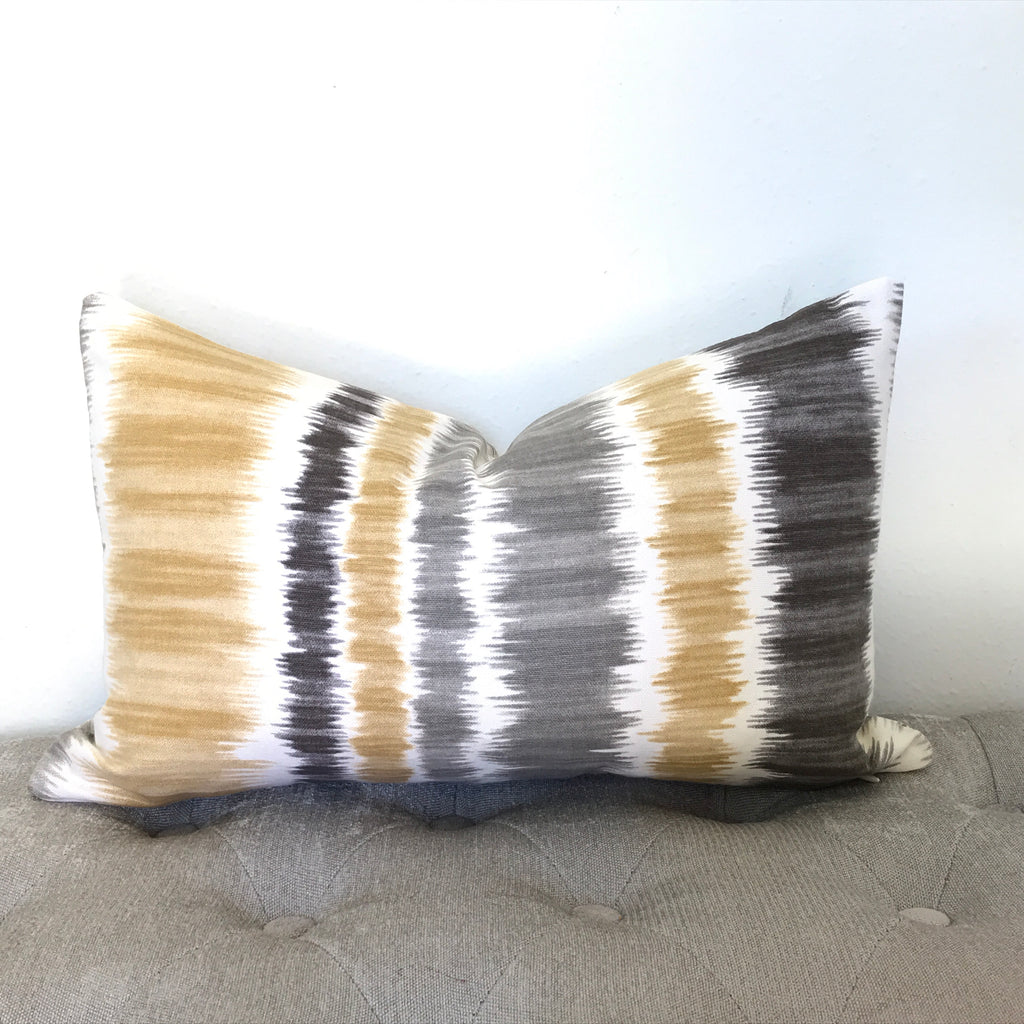 Lines Pillow Cover - Gold and Gray
