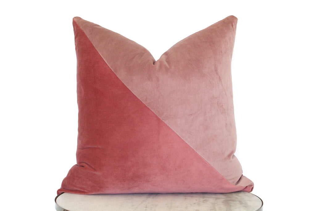 Slash Velvet Pillow Cover - Desert