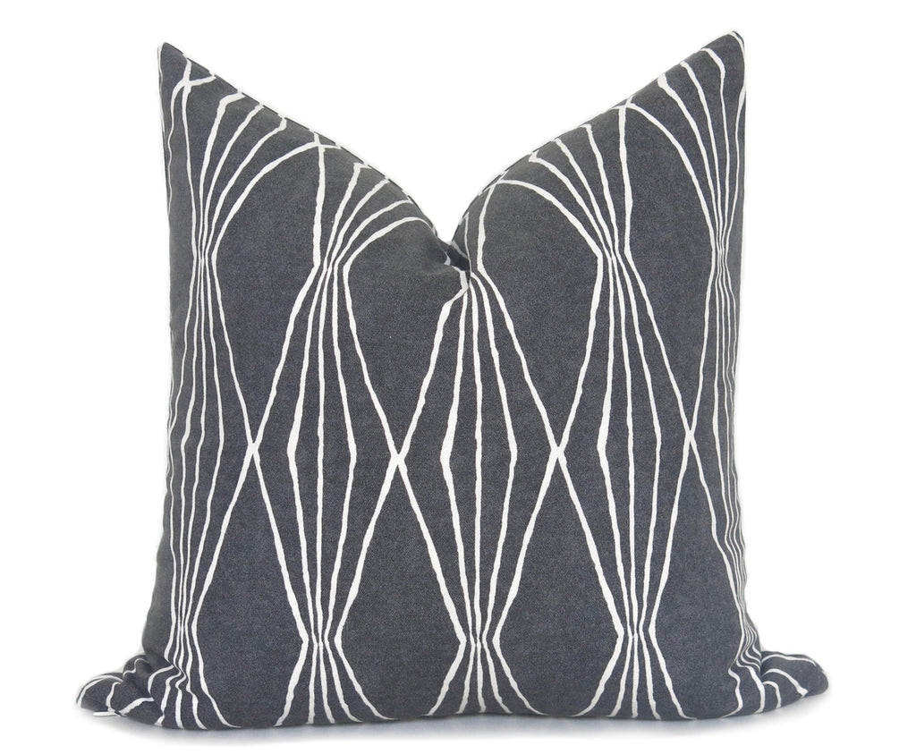 Mid Century Pillow Cover - Charcoal
