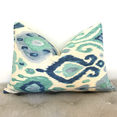 Ikat Eye Pillow Cover - Chambray