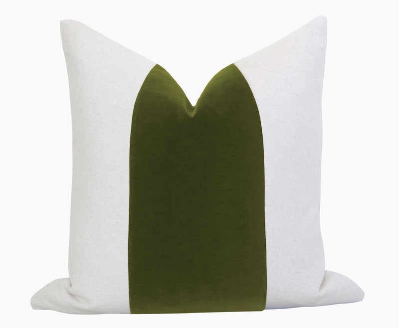 Belgium Velvet Pillow Cover - Olive Green