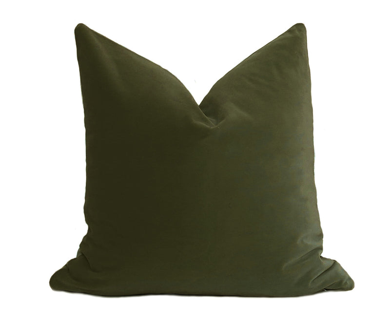 Belgium Velvet Pillow Cover - Seaglass