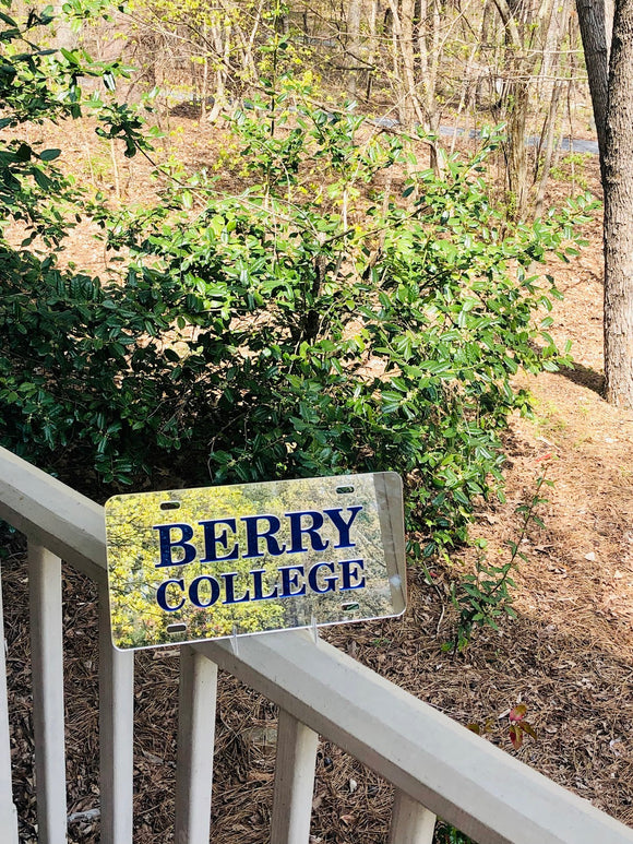 Berry College Mirror License Plate