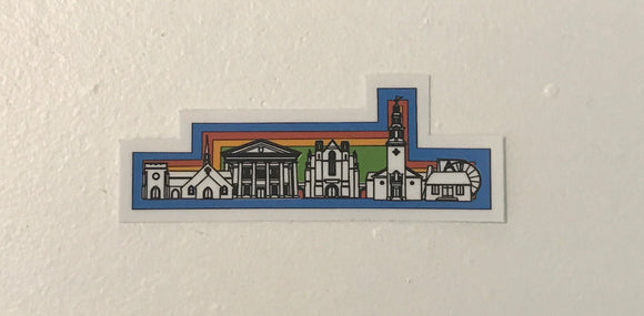 Berry Buildings Multicolor Sticker