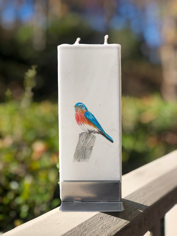 Blue Bird Art Candle