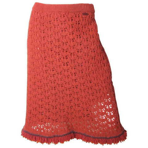 CHANEL Crochet Skirt