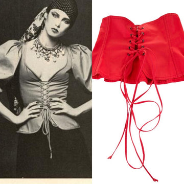 1977 YVES SAINT LAURENT corset belt