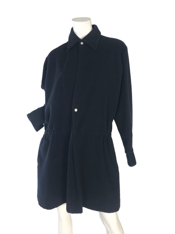 YOHJI YAMAMOTO Fleece Dress w/ slash