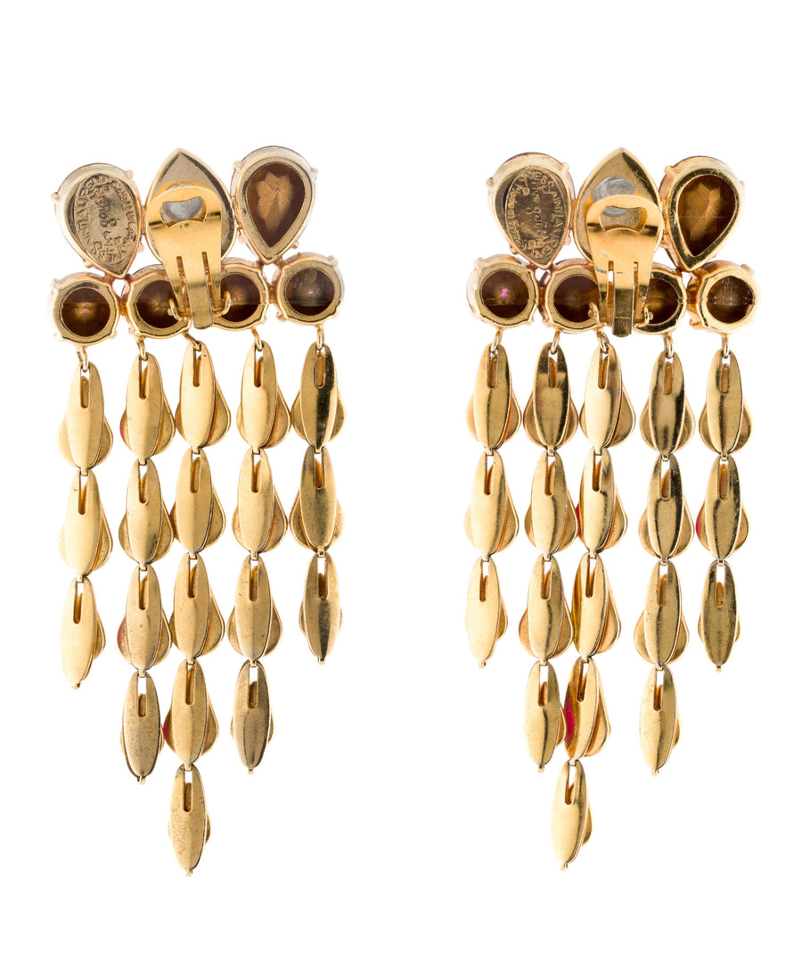 YVES SAINT LAURENT Rive Gauche Crystal Earrings