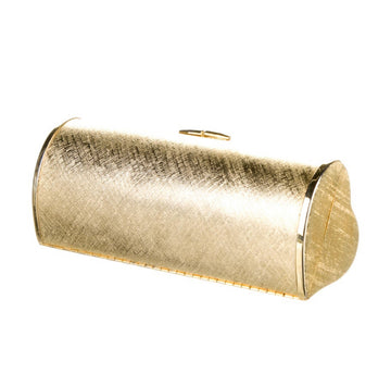 1970s HALSTON METAL HEART CLUTCH