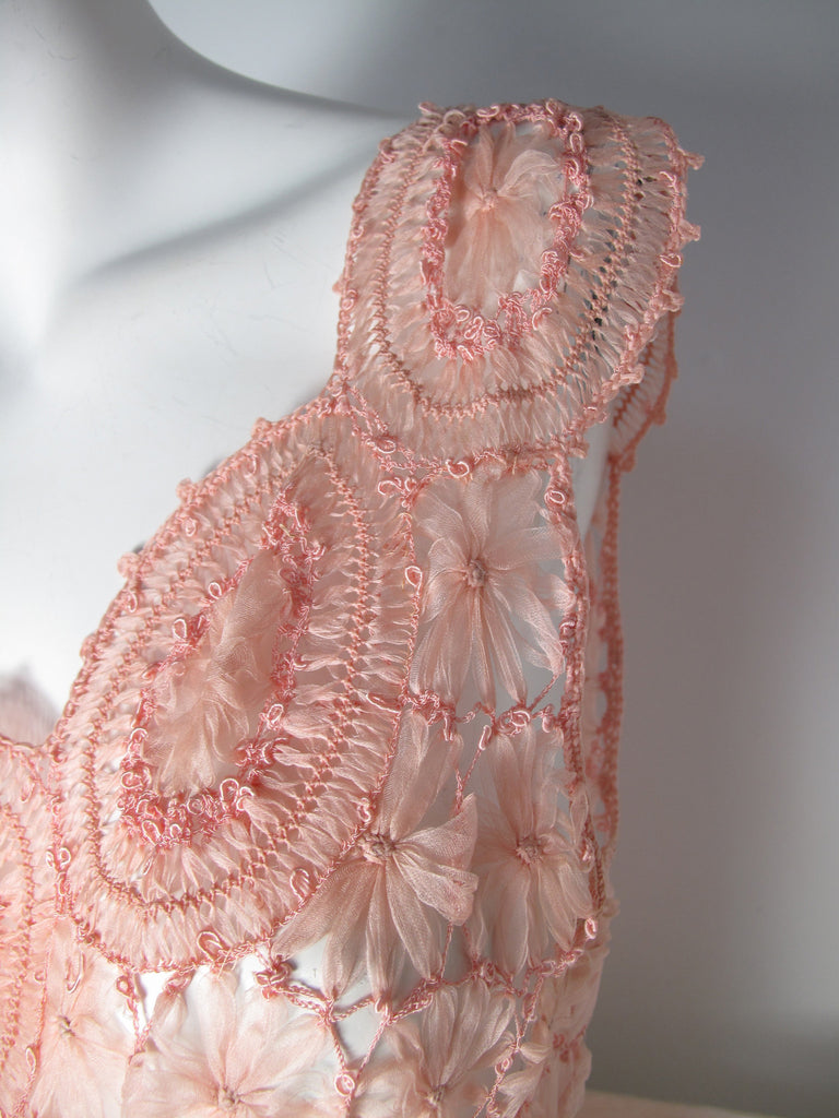 PINK CROCHET GOWN