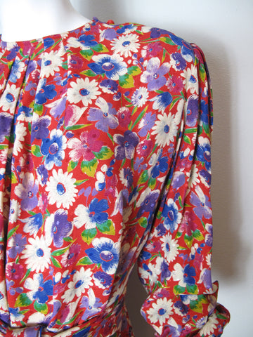 UNGARO Floral Dress
