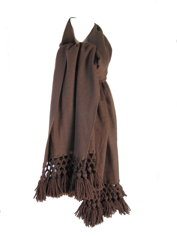 SAKS Large Wool Scarf