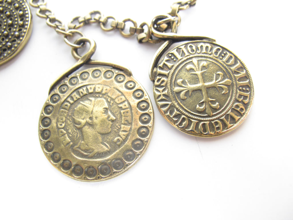 YVES SAINT LAURENT Medallion Coin Necklace