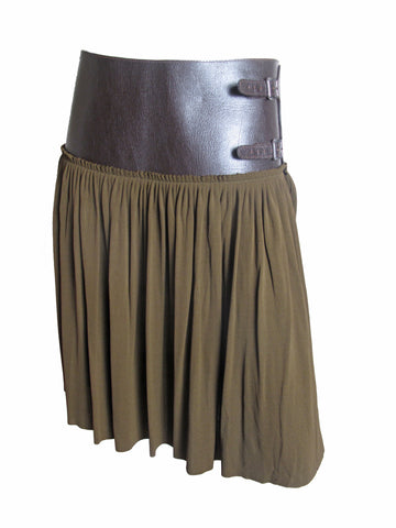 JEAN PAUL GAULTIER Skirt Leather Band