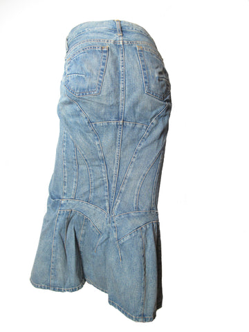 JUNYA WATANABE deconstructed denim skirt
