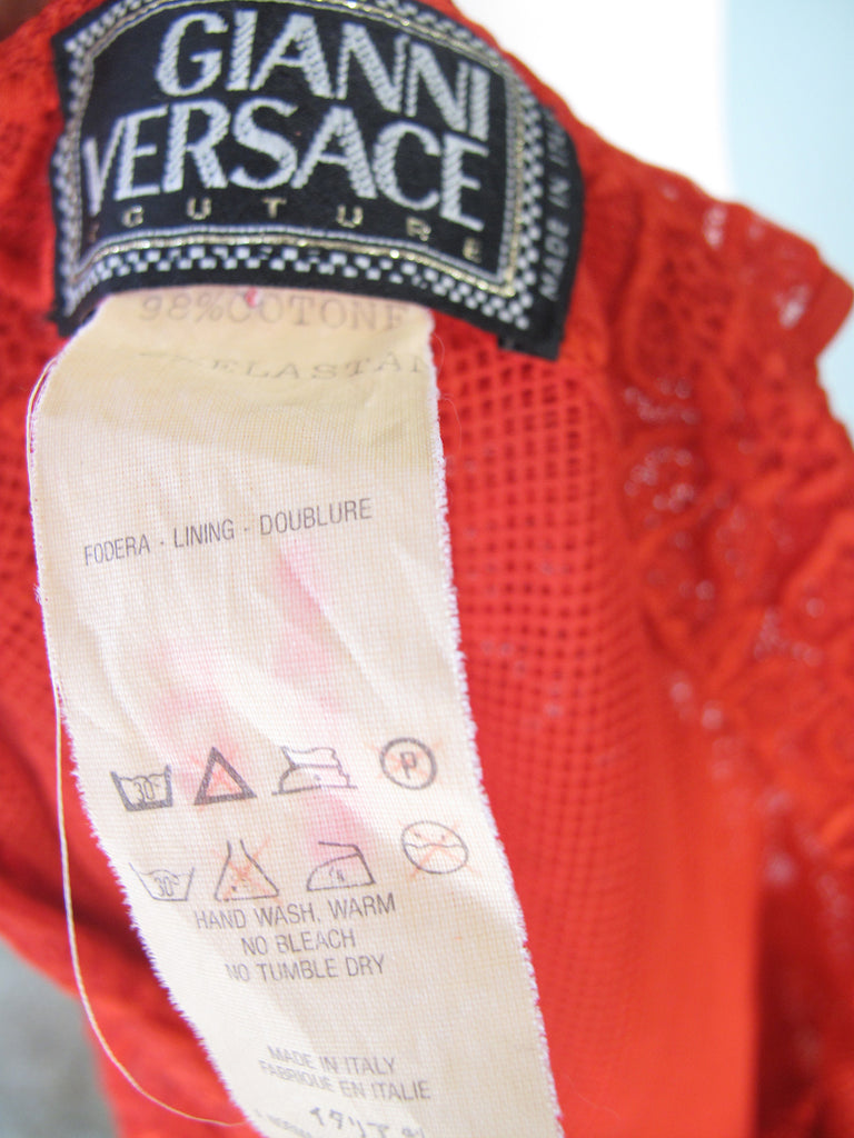 GIANNI VERSACE Couture lace dress