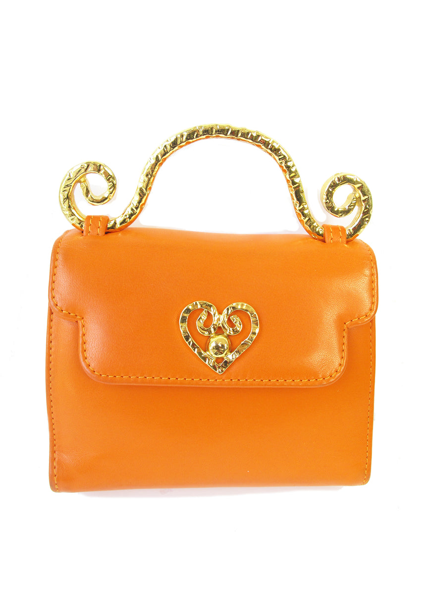 EDOUARD RAMBAUD orange leather bag