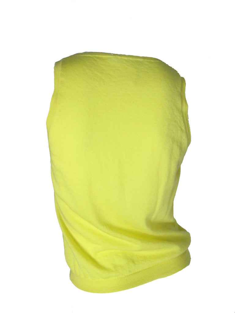 yellow cashmere tank