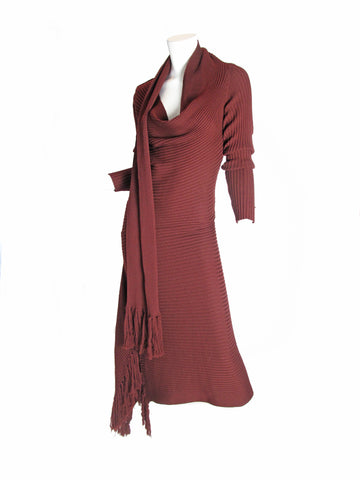 JEAN PAUL GAULTIER Knit Scarf Dress