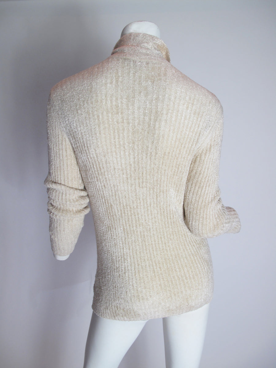 GIANNI VERSACE Textured Knit Cardigan