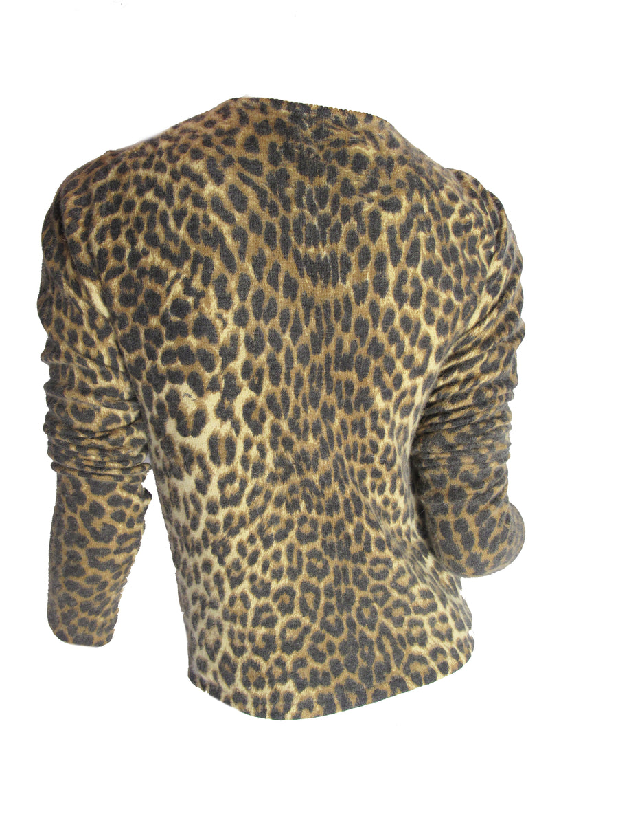 JOHN GALLIANO leopard cardigan