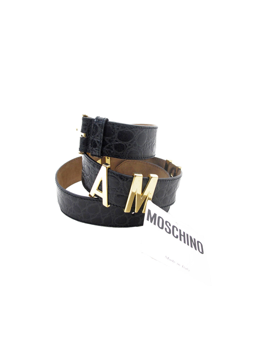"MOSCHINO ""I AM RICH"" BELT"