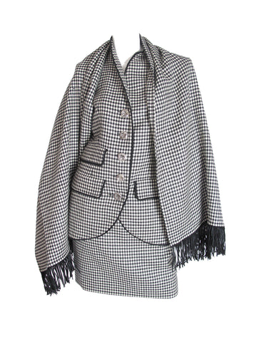 YVES SAINT LAURENT SUIT + SHAWL