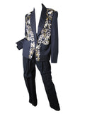 1980s CHLOE beaded + rhinestone suit