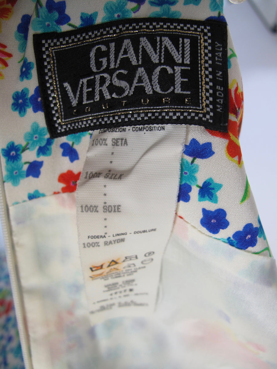 GIANNI VERSACE Floral Dress, 1990s