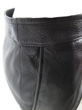 HERMES Dark Brown almost Black Deerskin Pencil Skirt