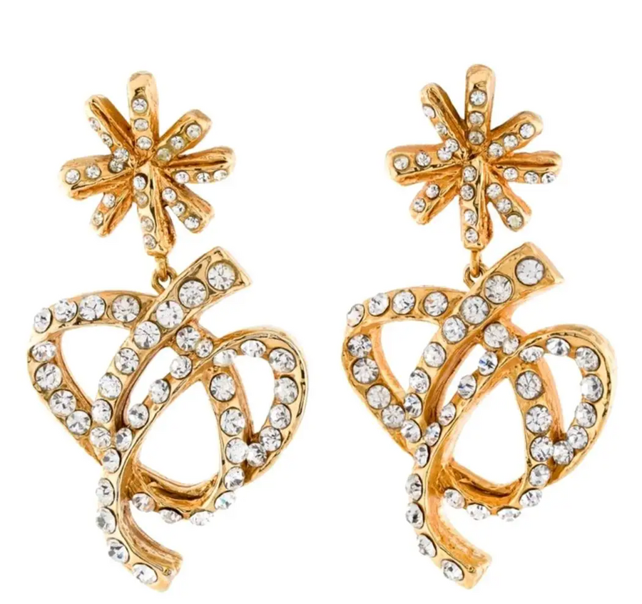 1990s CHRISTIAN LACROIX crystal earrings