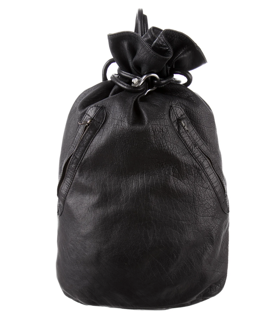 ISSEY MIYAKE Leather Backpack Large