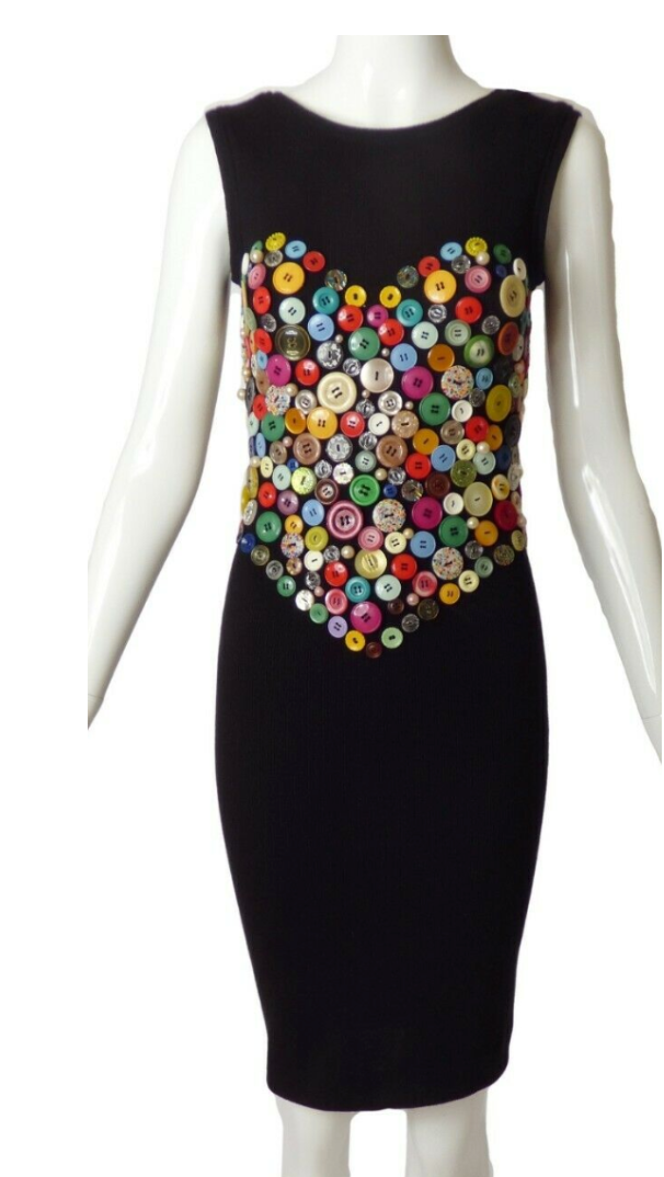 PATRICK KELLY BUTTON HEART DRESS 1986