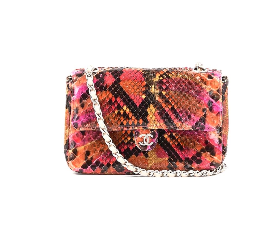 2001 Chanel Python Shoulder Bag