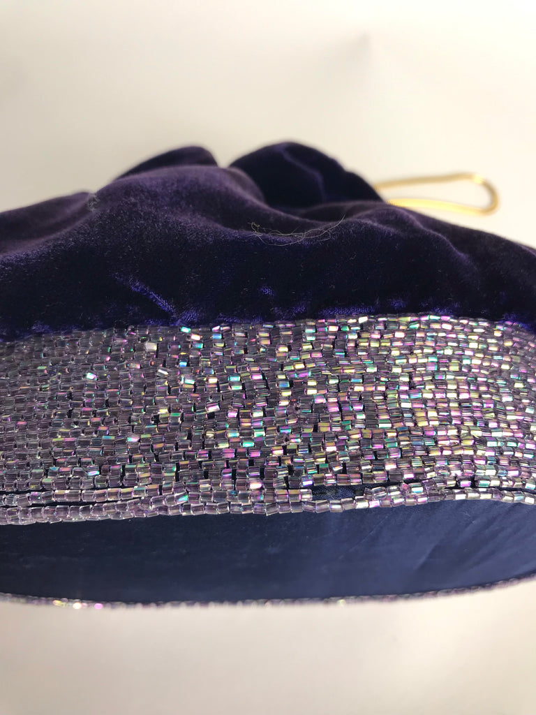 Walborg Purple Velvet Evening Bag