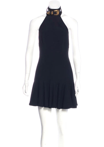 ALEXANDER MCQUEEN Buckle Halter Dress